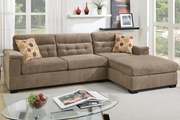 McGregor Brown Fabric Sectional Sofa