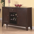 Memphis Cappuccino Wood Buffet Table