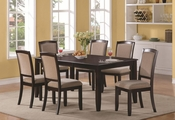 Memphis Cappuccino Wood Dining Table
