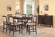 Memphis Cappuccino Wood Pub Table Set