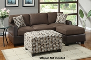 Mila Dark Chocolate Sectional Sofa