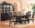 Monaco Dark Cappuccino Wood Dining Table Set
