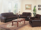 Brown Fabric Sofa and Loveseat Set