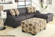 Montreal II Grey Fabric Sectional Sofa
