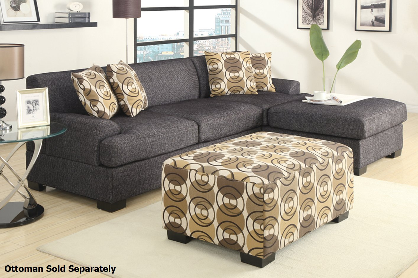 gray sectional sofas. homelegance sinclair grey sectional sofa