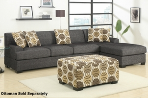Montereal Ash Reversible Sectional Sofa