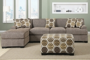 Montreal III Slate Fabric Sectional Sofa
