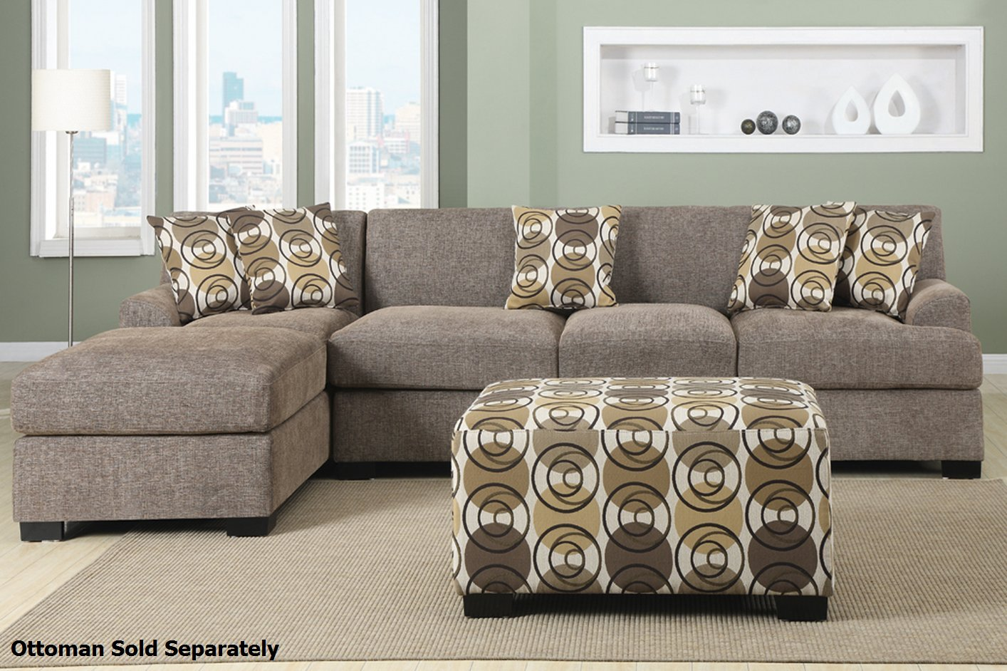 Poundex Montreal III F7448 F7450 Beige Fabric Sectional  : montereal slate reversible sectional sofa 32 from www.stealasofa.com size 1414 x 942 jpeg 256kB