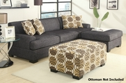 Montreal Ash Grey Fabric Sectional Sofa