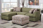 Montreal II Peridot Fabric Sectional Sofa