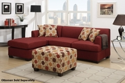 Montreal II Red Fabric Sectional Sofa