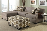 Montreal II Slate Fabric Sectional Sofa
