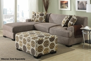 Montreal II Beige Fabric Sectional Sofa