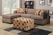 Montreal II Stone Fabric Sectional Sofa