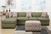 Montreal III Peridot Fabric Sectional Sofa