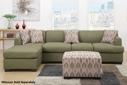 Montreal III Green Fabric Sectional Sofa