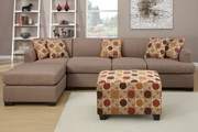 Montreal III Stone Fabric Sectional Sofa