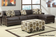 Mosi Reversible Coffee Sectional Sofa