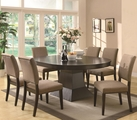 Myrtle Coffee Wood Dining Table Set