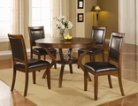 Nelms Deep Brown Wood Dining Table Set