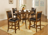 Nelms Deep Brown Wood Pub Table Set