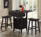 Nels Dark Brown Wood Pub Table Set