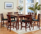 Newhouse Warm Cherry Wood Pub Table Set