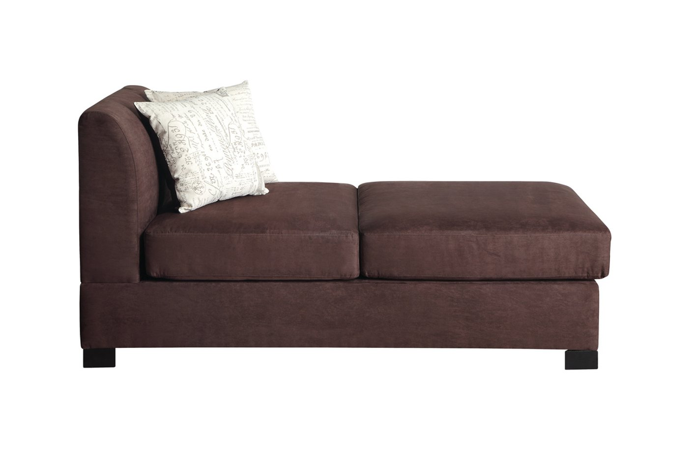 Poundex Nia F7979 Brown Fabric Chaise Lounge Steal A