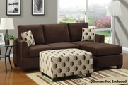 Noela Chocolate Sectional Sofa