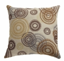 Noella Brown Fabric Accent Pillow