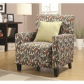 Noella Grey Fabric Accent Chair