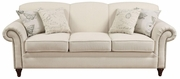 Norah Beige Fabric Sofa