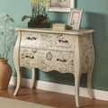 Norah White Wood Accent Cabinet