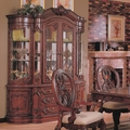 Nottingham Brown Cherry Wood Buffet and Hutch