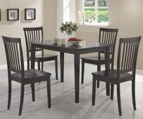 Oakdale Cappuccino Wood 5 Piece Dining Set