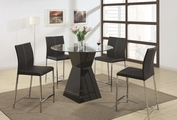 Ophelia Black Wood And Glass Pub Table Set