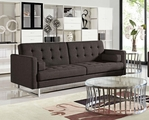 Opus Brown Fabric Sofa Bed