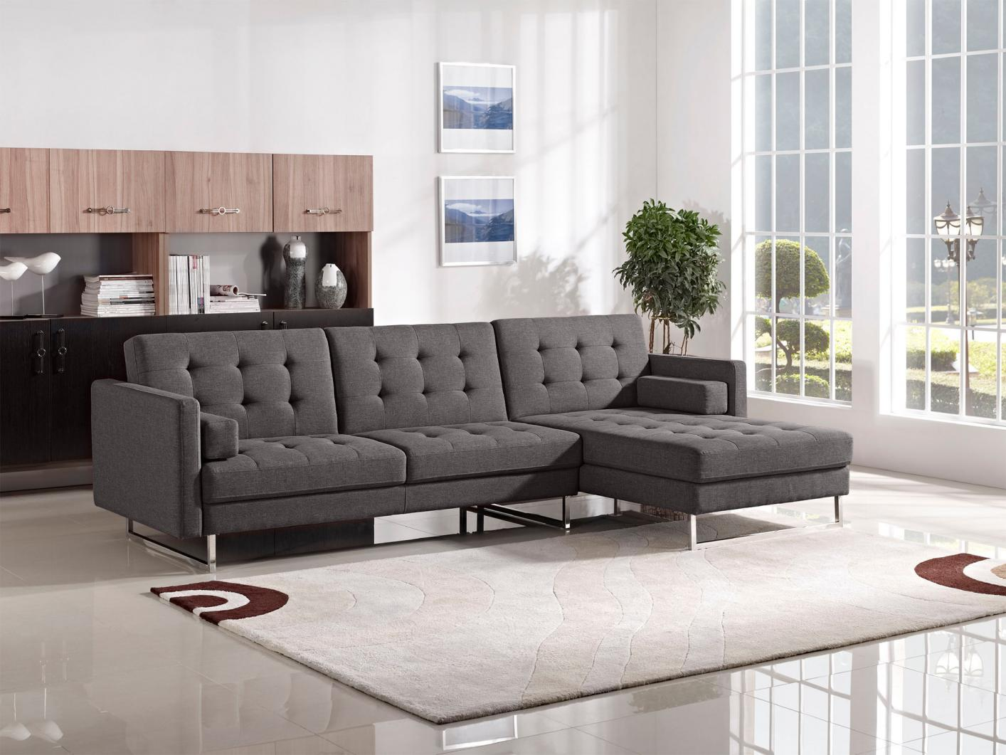 Best Diamond Sofa Opus Opusrcgr Opuslsgr Grey Fabric Sectional Sofa Bed  With Natuzzi Outlet.