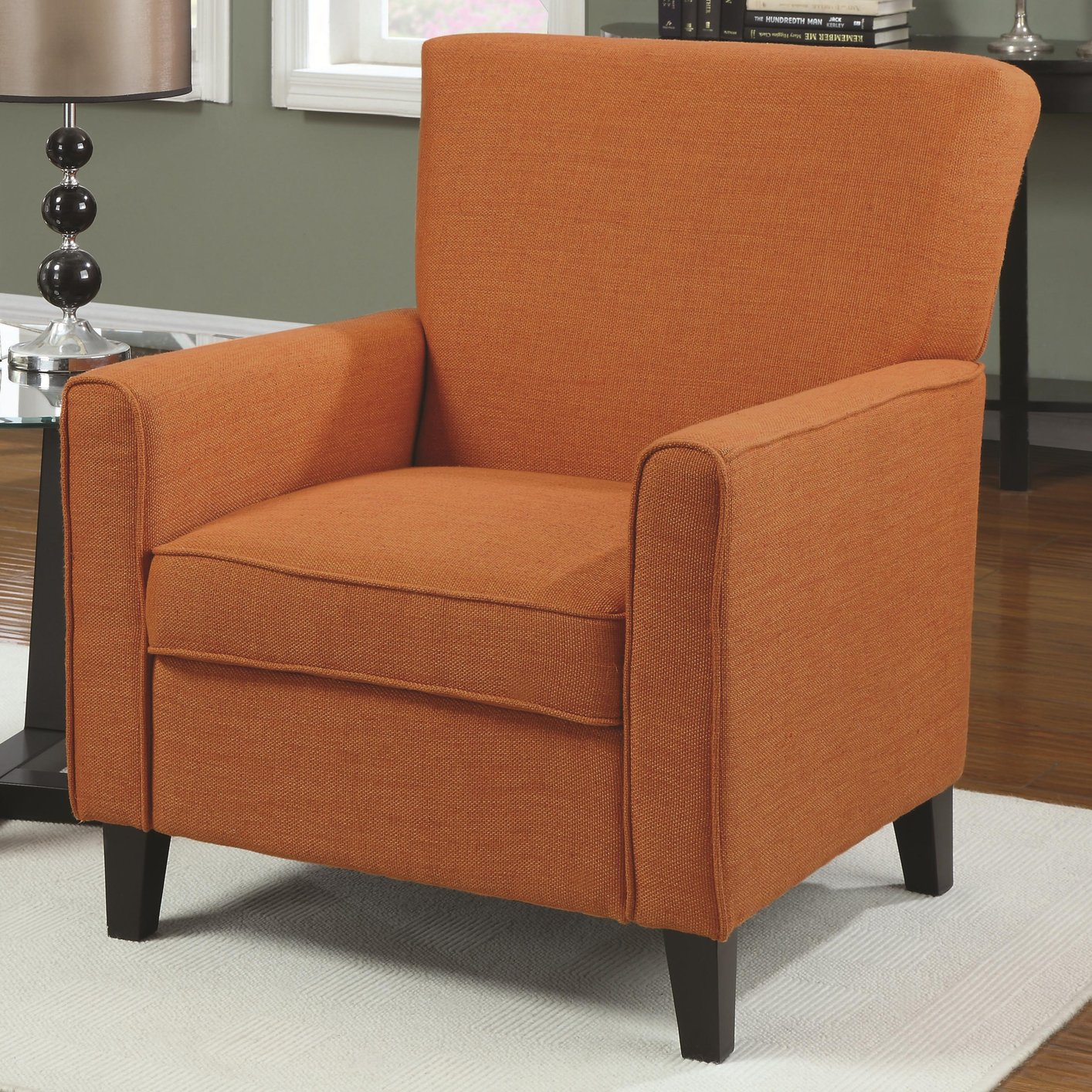 Coaster 902094 Orange Fabric Accent Chair Steal A Sofa  : orange fabric accent chair 3 from www.stealasofa.com size 1414 x 1414 jpeg 463kB