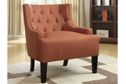 Orange Fabric Accent Chair