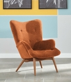 Orange Wood Accent Chair