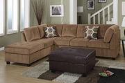 Pablo Tan Reversible Microfiber Sectional Sofa