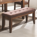 Page Antique Oak Wood Dining Bench