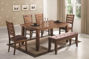 Page Antique Oak Wood Dining Table Set
