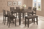 Page Cappuccino Wood Pub Table Set