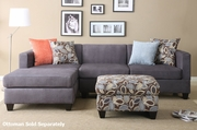 Maribel Blue Fabric Sectional Sofa