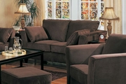 Park Place Chocolate Microfiber Loveseat