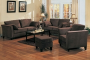 Park Place Chocolate Microfiber Sofa and Loveseat