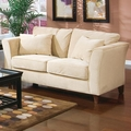 Park Place Beige Fabric Loveseat