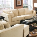 Park Place Beige Fabric Sofa